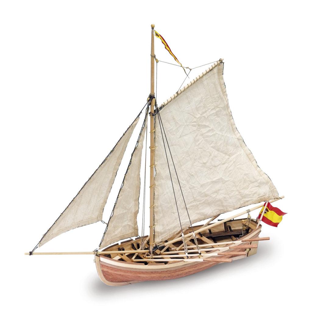 Initiation au Modélisme Naval: Maquette de Bateau en Bois Canot du Capitaine San Juan Nepomuceno (18010).