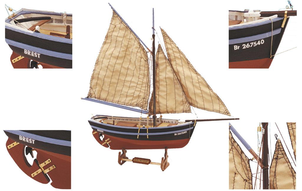 Initiation au Modélisme Naval: Maquette de Bateau en Bois Bon Retour (19007).