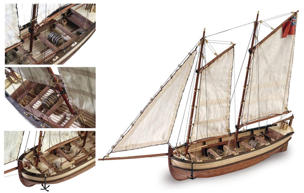 Initiation au Modélisme Naval: Maquette de Bateau en Bois Canot du Capitaine San HMS Endeavour (19015).
