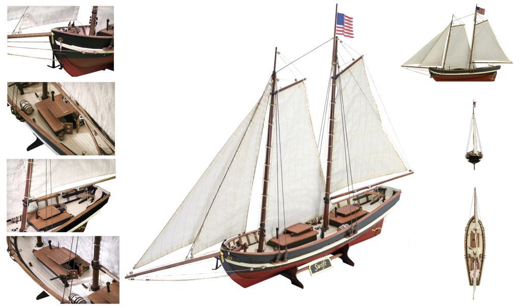 Modélisme Naval pour Débutants: Maquette Bateau en Bois Swift (22110N).
