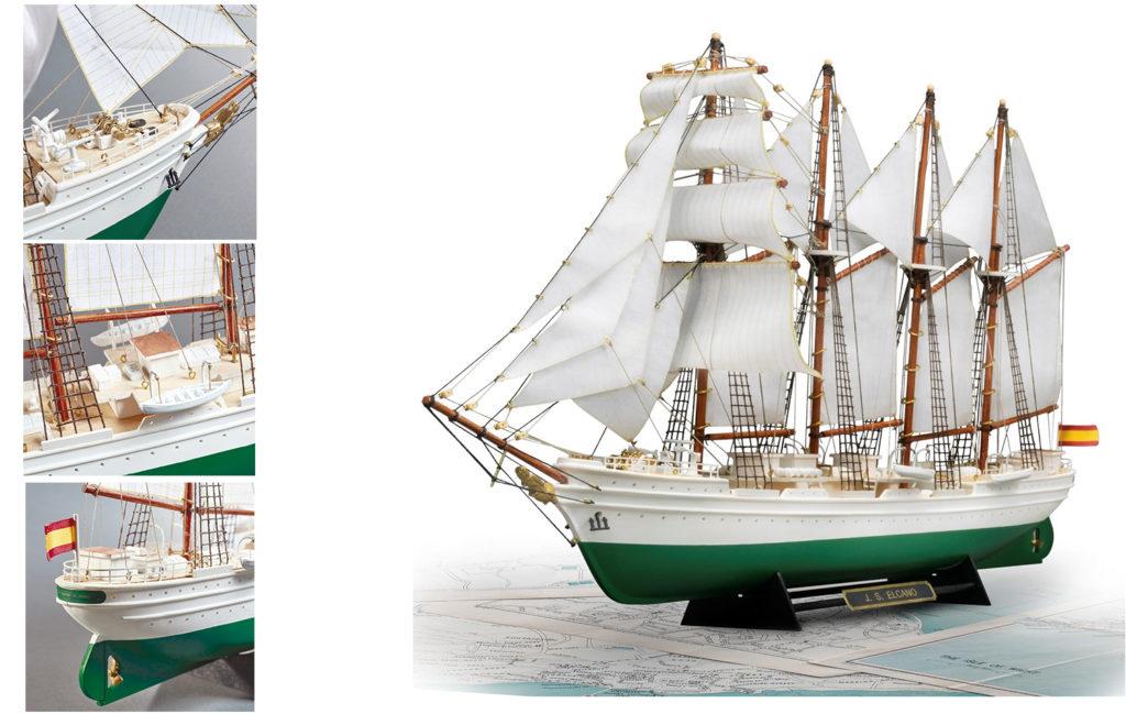 Modélisme Naval pour Débutants. Maquette de Bateau en Bois et Plastique Nouveau Navire-École Juan Sebastián Elcano (22260).