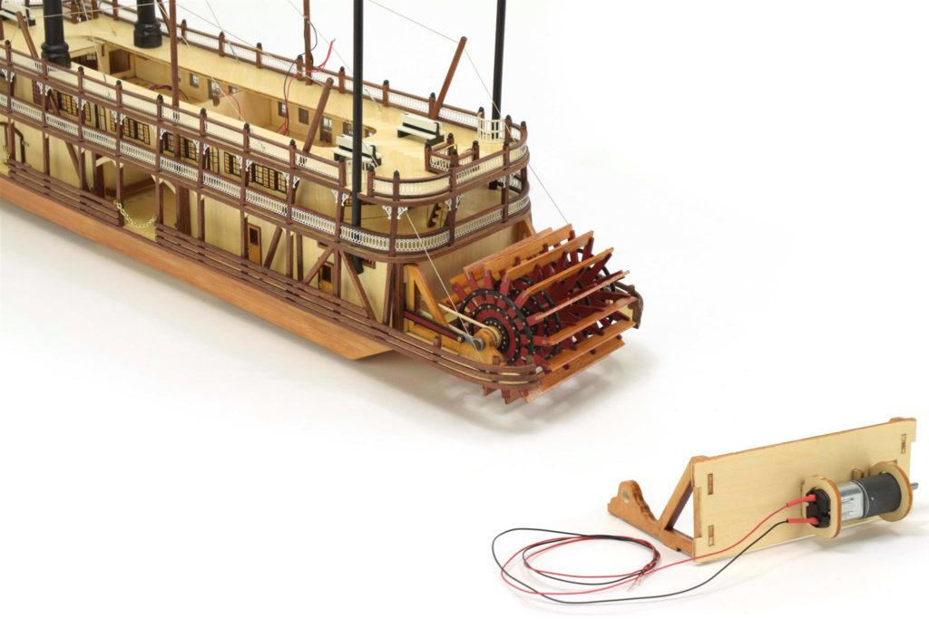 Modélisme Naval. Moteur Nouveau Maquette Bateau à Vapeur à Roues King of the Mississippi 1/80 (20515).