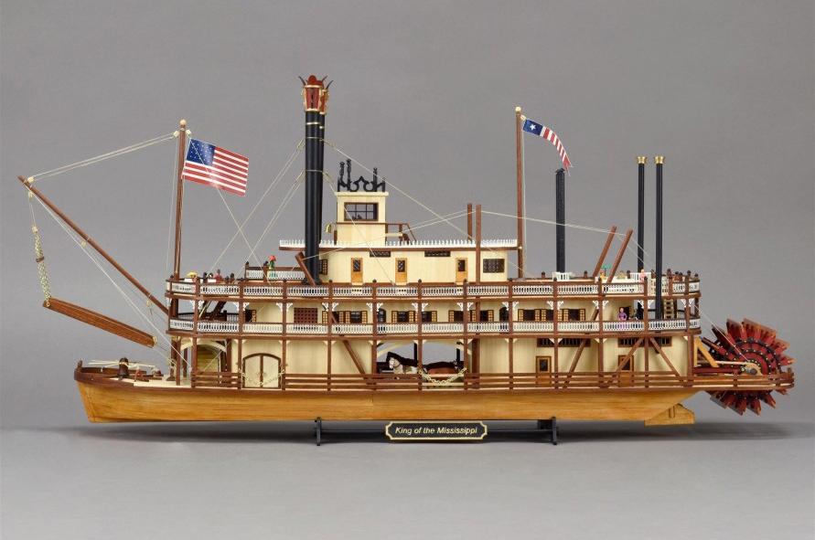 Modélisme Naval. Nouveau Maquette Bateau à Vapeur à Roues King of the Mississippi 1/80 (20515).